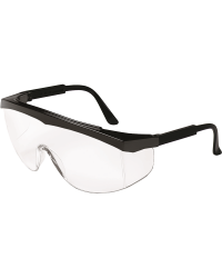 Square Frame Blk. Safety Glasses