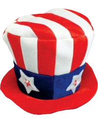 USA Light Up Hat 15""