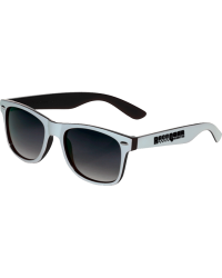 Adult Sunglasses White & Black Two-Tone