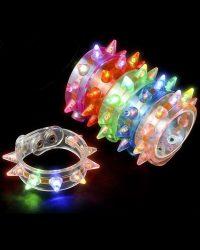 """Light Up Spike Bracelet 9.5"""""""