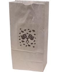 Paper Bag w/ Checkered Flags