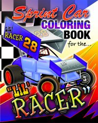 Sprint Car Lil Racer Coloring Book