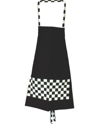 Black & White Checkered Chef's Apron
