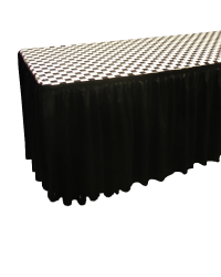 Fitted Table Cover Black & White Check