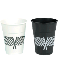 Checkered Flag Plastic Cup 16oz
