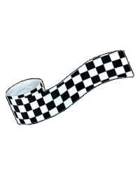 Checkered Flag Crepe Paper Roll