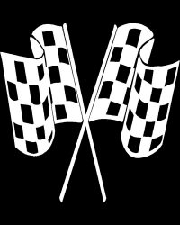 Crossed Checkered Flags Decal