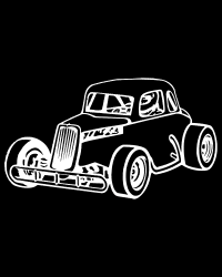 Vintage Coupe Race Car Decal