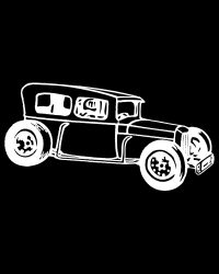 Vintage Race Car Sedan Decal