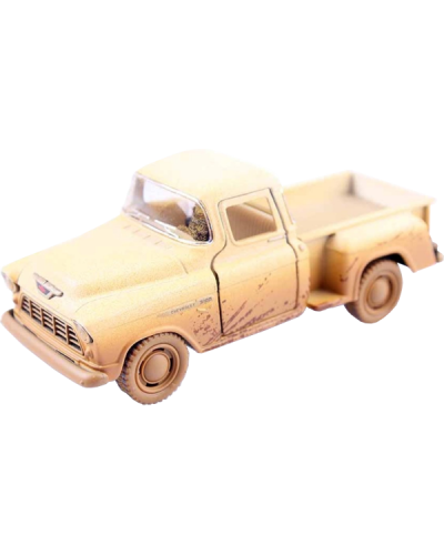 DC123 1955 Chev. Pick Up Muddy white 600