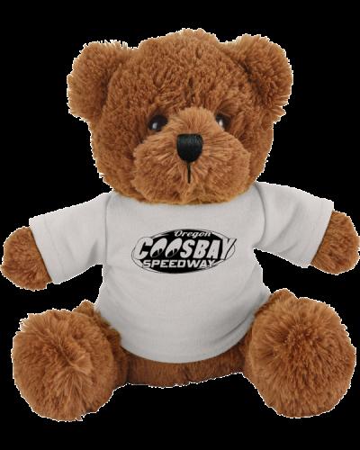6001-EV Fuzzy Bear w-shirt white coosebay 600