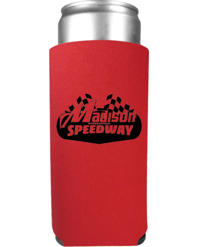 PR10 Slim Can Koozie 12oz Red madison 600
