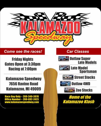 PR62 Hand Fan Kalamazoo Speedway SIDE 1 600